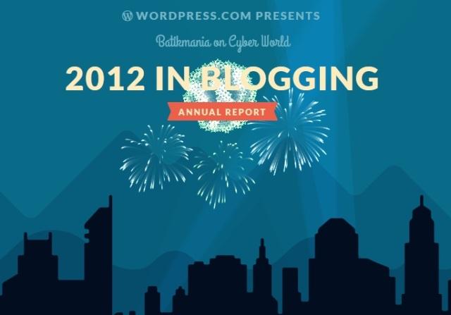 Annual Report for Batikmania on WordPress